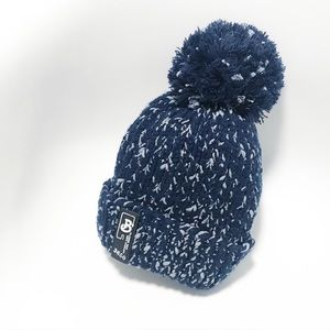 Fleece lined chunky knit Pom Pom beanie